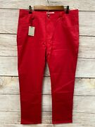 James Campbell Pants Mens Size 35x32 Washed Twill Five Pocket Stretch Pants New