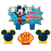 Mickey Mouse Fun And Friends Mini Candle Set 4pcs Birthday Supplies Cupcake