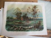 Vintage 1904 - Mcloughlin Bro's Print The Birth Place Of Abraham Lincoln