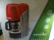 Coleman Camping Outdoor Quikpot Coffee Maker Pot Case Propane 10 Cup Used