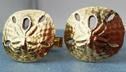 James Avery Retired 14k Sand Dollar Solid Gold Cufflinks- Vintage-mint Condition