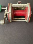 Vintage Penn Jigmaster No.500 Tackle Mfg Co Fishing Reel Red Made In The Usa