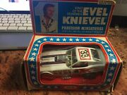 New Vintage 1976 Ideal Evel Knievel Diecast Funny Car Boxed Precision Miniature