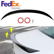 Car Gloss Black M4 Style Rear Trunk Spoiler Wing Lip For Toyota Camry 2018-21