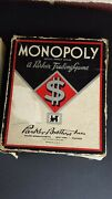 1941 1945 World War 2 Monopoly Wooden Playing Pieces Black Box Vintage Old Wwii