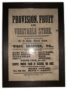 1864, West Chester, Pa, Original Broadside, 21 N Church St, Chester County, Pa