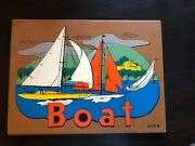 Vintage Collectible Sifo Sail Boat Wooden Children's Jigsaw Puzzle 1950s 1 Owner