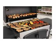 Heavy-duty 61and039and039charcoal Grill Stainless Steel Outdoor Cooking Dual Zone Premium