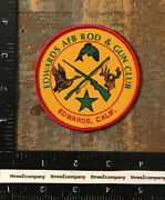 Vintage Edwards Air Force Base Rod And Gun Club Hunting Patch Usaf Afb