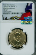 2020-p George H W Bush 1 President Ngc Ms69 Mac Finest And Spotless