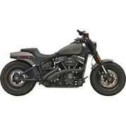 Harley Bassani - Exhaust System Radial Sweeper 18-21 Softail Fx Black 22 Fat