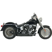 Harley Bassani - Exhaust System Pro Street Turn Out 86-17 Softail Fat Fx Black
