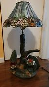 Vintage Lamp Apsit Bros Of California 1982 - Prospector Panning For Gold 30''