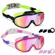 Young4us 2 Pack Kids Swim Goggles Swimming Glasses For Children From 3 To 15 ...