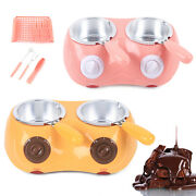Electric Melter Machine Candy Chocolate Making Melting Pot Kitchen Tool 2 Pots
