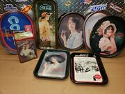 Lot Of Vintage Coca-cola Drink Soda Metal Serving Trays And Tin Collectibles