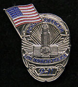 Us Flag Lapd Hat Lapel Pin Police 911 Support Pd Emt Los Angeles Police Officer