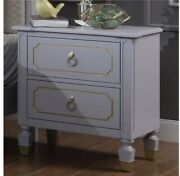 Acme Furniture House Marchese Nightstand In Pearl Gray Finish