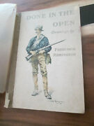 Frederic Remington Done In The Open Drawings 1902 Vintage Illustrated Book