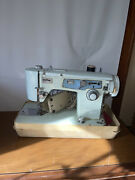 Vintage 1960s Brother Prestige Sewing Machine With Materials