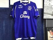 Very Rare Everton 2009 Fa Cup Final Match Prepared Shirt Mint Condition In Large