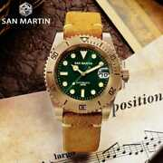 San Martin Diver Cusn8 Bronze Water Ghost Luxury 3d Printing Surfing Dial Sapphi