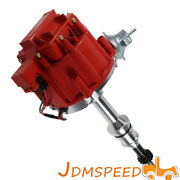 Hei Ignition Red Cap Distributor W/65k Coil For Sbf Ford Small Block 289 302 260