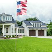 20ft Sectional Flag Pole Ball Top Kit 16 Gauge And 3and039x5and039 Free Us American Flag Kit