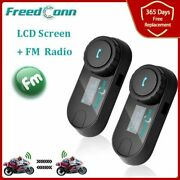 Bluetooth For All Motorcycle Headset With Lcd Screen Fm Radio Helmet Intercom Or