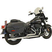 Harley Bassani - Exhaust System 22 Dual Softail 18-20 Chrome Heritage Flde
