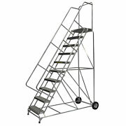Ballymore Rolling Ladder Overall Height 133 In Steps 10 Cap 300 Lb