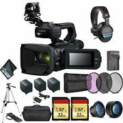 Canon Xa55 Professional Uhd 4k Camcorder 3668c002 Bundle With 2x Spare