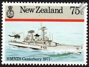 Hmnzs Canterbury F421 New Zealand Leander-class Frigate Warship Stamp