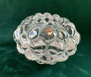 Sweden Crystal Glass Candlepot From Orrefors