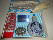Vintage German Souvenir Snuff Tobacco Set Never Used With Bottle In Original Box
