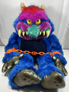 Vintage Amtoy My Pet Monster 24 Plush Stuffed Animal Toy 1986 With Handcuffs
