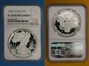 1989 S Pf 70 Eagle Ngc Ultra Cameo Certified Graded Authentic Silver Oce 238