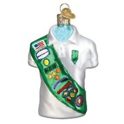 Old World Christmas Girl Scout Uniform Glass Ornament Free Box 32449 New