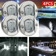Light Led Boat Marine Stern White Round Tail Lamps Yacht Deck Cabin Transom 4pcs