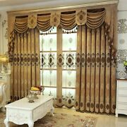 Curtain For Living Room Bedroom Chenille Embroidered Curtains Blackout Curtains
