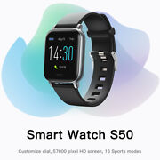 S50 Mens Womens Waterproof Smart Watch Phone Mate For Iphone Ios Android Samsung