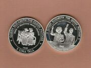 Two 1995 And 1997 Tokelau Silver Proof 5 Lima Tala Crowns With Capsules Near Mint