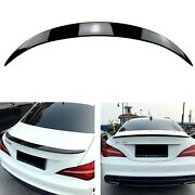 For 2013-2019 Benz C117 Cla180 Cla45 Amg Rear Spoiler Wing Glossy Black 1 Set