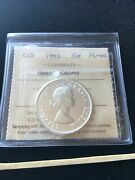1963 Iccs Graded Canadian Silver 50 Cent Pl-66 Heavy Cameo