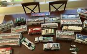 Hess Collectible Trucks - 20 Hess Vehicles, Most In Boxes, Never Played With