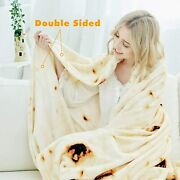 Burritos Blanket, Double Sided Giant 71 Inch Tortilla Throw Blanket - Burrito-a