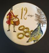 New Williams Sonoma 12 Days Of Christmas Dinner / Cookie Plate Discontinued Rare