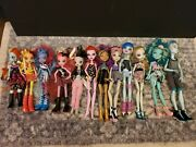 Huge Mattel Monster High Doll Lot With Clothes And Accessory Lot Of 15 Dolls Rare