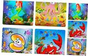 Puzzles For Kids Ages 3-5,toddler Puzzles 4 Pack 20 Pieces Wooden Puzzles For