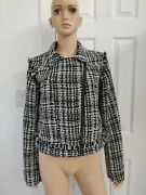 Women's A New Day Tweed Black/ White Mobo Jacket Size L Nwt